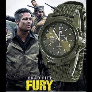 Men Army Quartz Sports Wristwatch